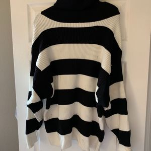 Zara Distressed Turtleneck